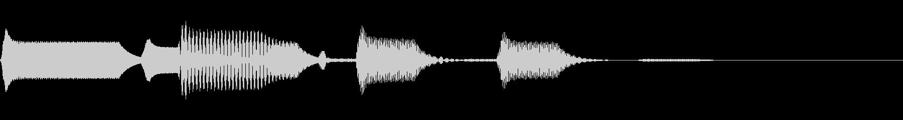 ビープ音色5の未再生の波形