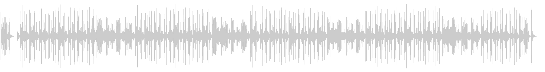 アフリカンマリンバの可愛らしい曲の未再生の波形