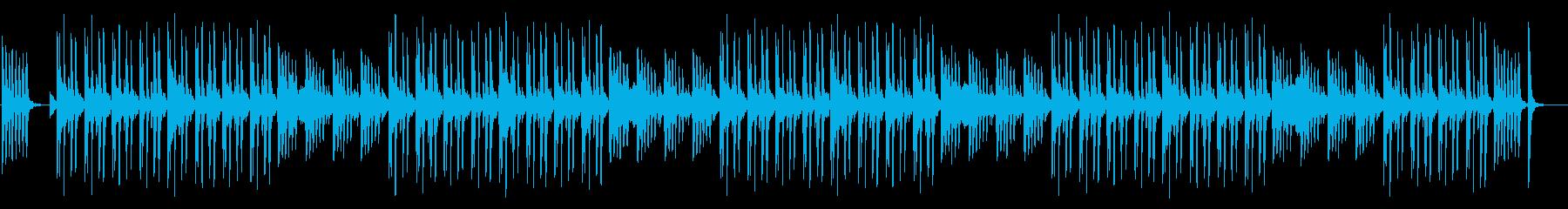 アフリカンマリンバの可愛らしい曲の再生済みの波形
