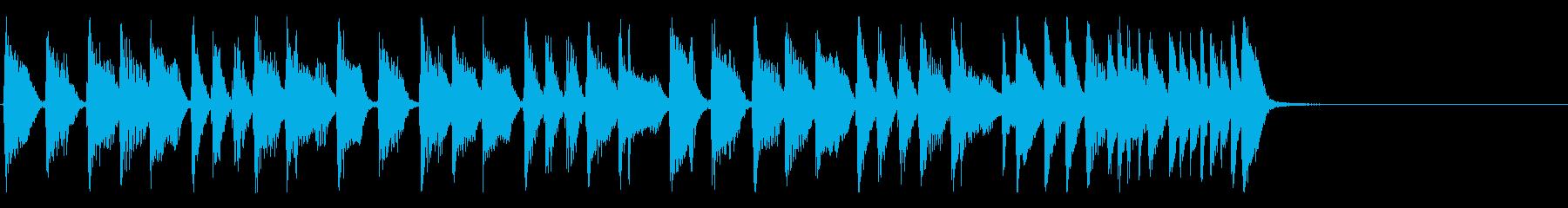 スタイリッシュなジャズファンクジングルの再生済みの波形