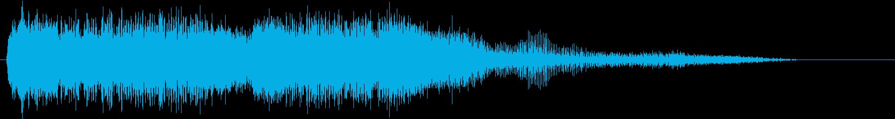 大型丸型ハンドソー:スタート、ラン...の再生済みの波形