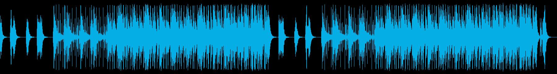 和太鼓のリズムが鳴り響く侍の均衡する戦いの再生済みの波形