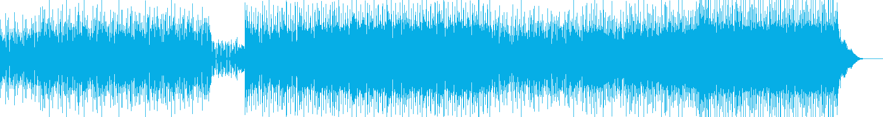 ファンキーなギターとハウスロックの再生済みの波形