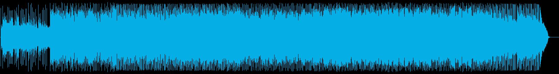 アジアンな雰囲気のアップテンポの琴の曲の再生済みの波形