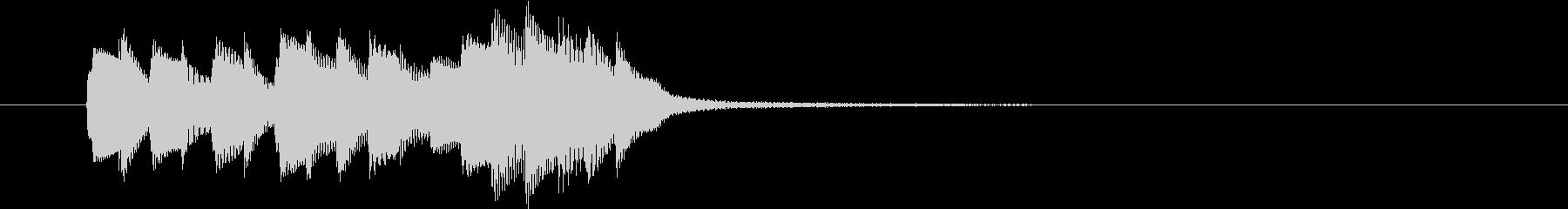 正解音風の短い上行形効果音の未再生の波形