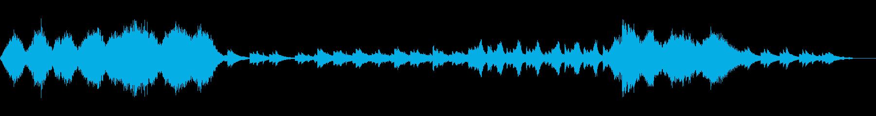 穏やかなイメージのオーケストラの再生済みの波形