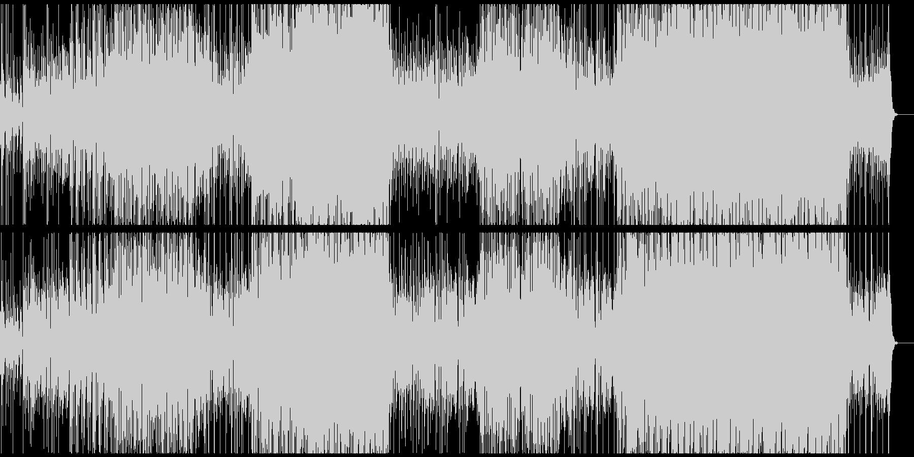 哀愁的なギターリフのトロピカルハウスの未再生の波形