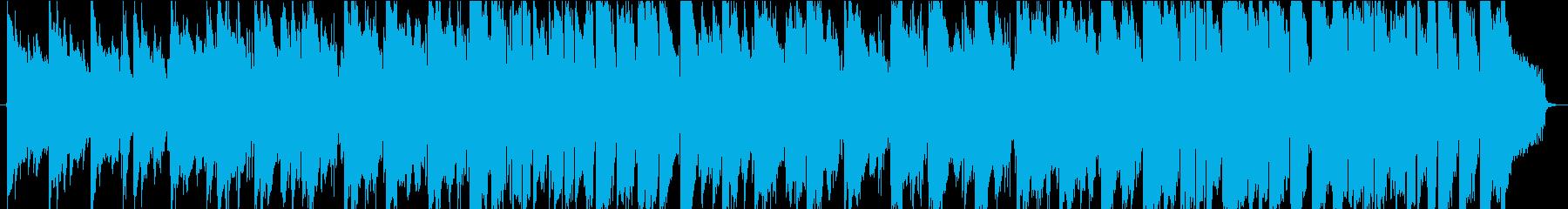 温かいサウンドのアコースティックの再生済みの波形