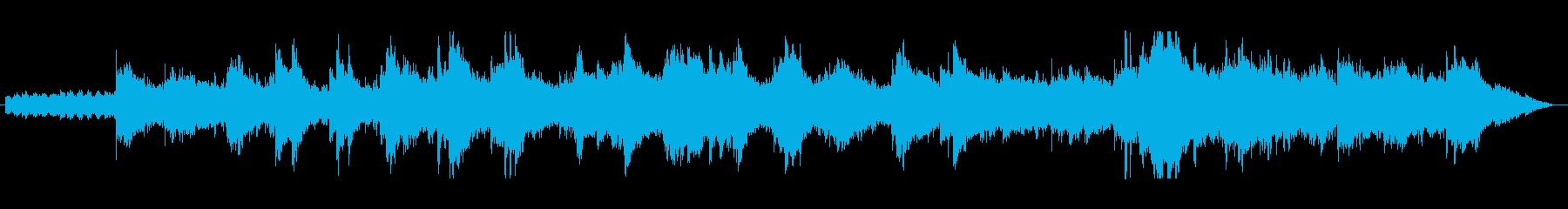夕景を感じるアンビエント曲の再生済みの波形