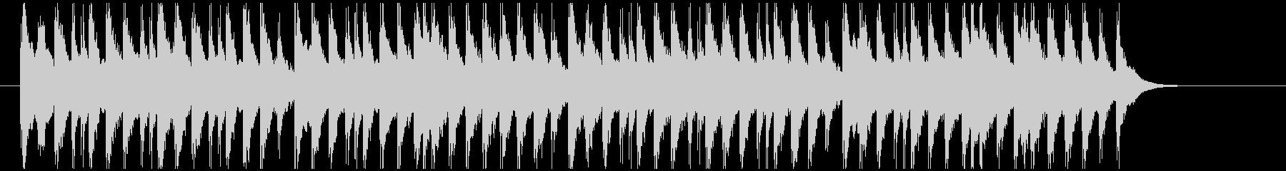 和物の劇のシーンチェンジに合うジングルの未再生の波形