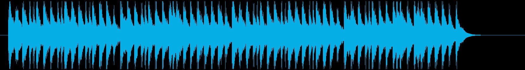 和物の劇のシーンチェンジに合うジングルの再生済みの波形