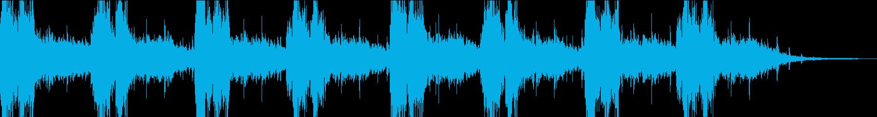 緊迫した雰囲気のBGMの再生済みの波形