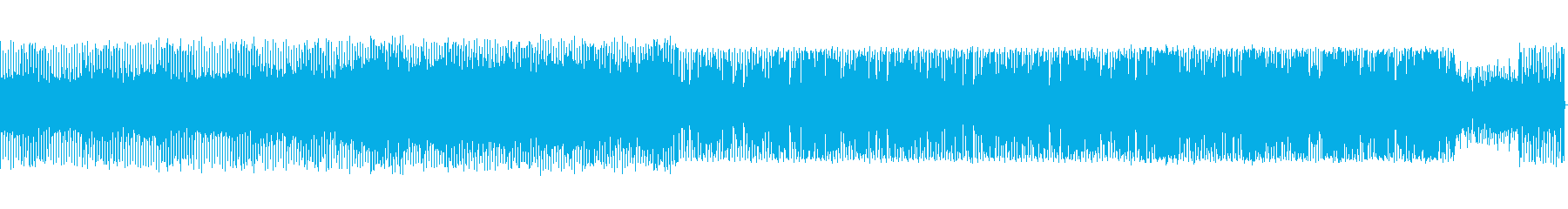 電波をイメージしたピコピコ音楽の再生済みの波形