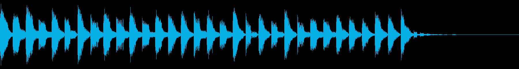 EDM風のジングル(暗め)の再生済みの波形