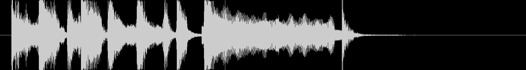 ロックオルガンのジングルの未再生の波形