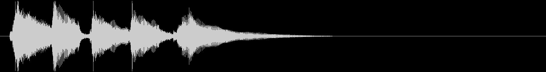 CMあけで流れそうなウクレレの未再生の波形