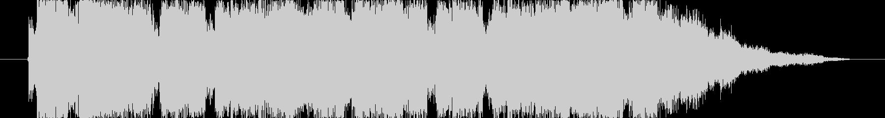 15秒の洋楽系60・70年代ロック調の未再生の波形