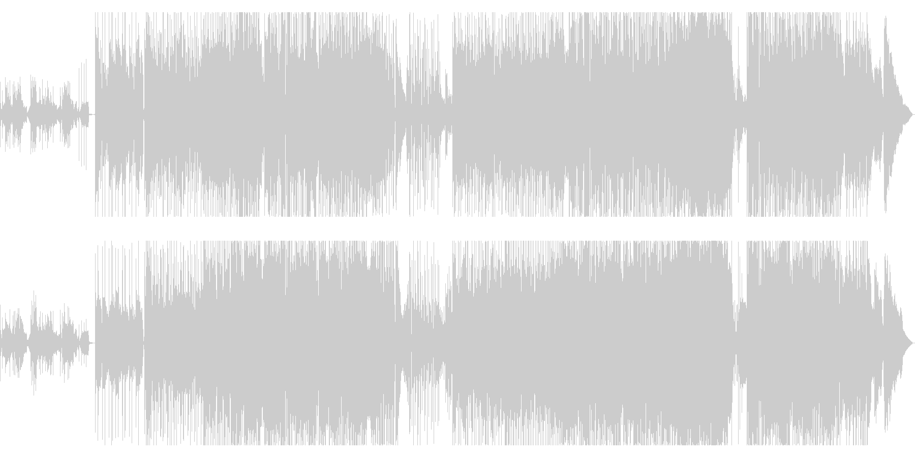 きらきらかわいいサウンドのBGMの未再生の波形