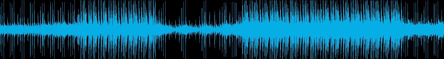 しっとり落ち着いたエレクトロミュージックの再生済みの波形