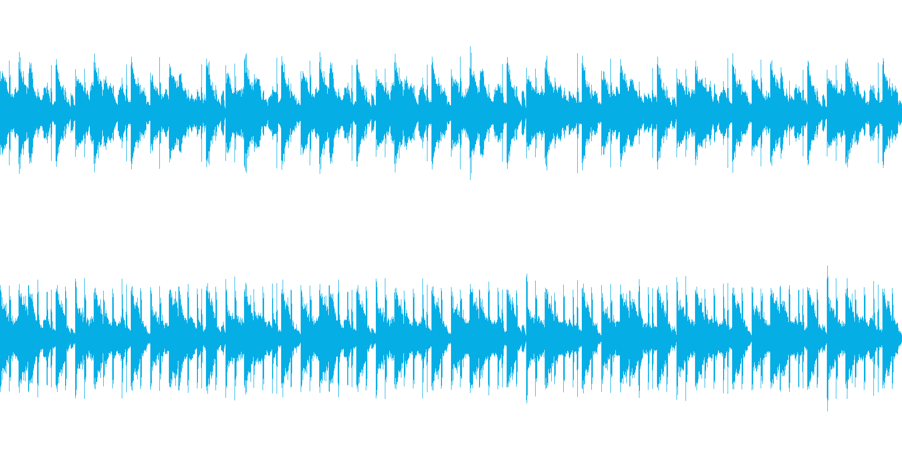 ミステリー風ピアノとシンセのループ曲の再生済みの波形