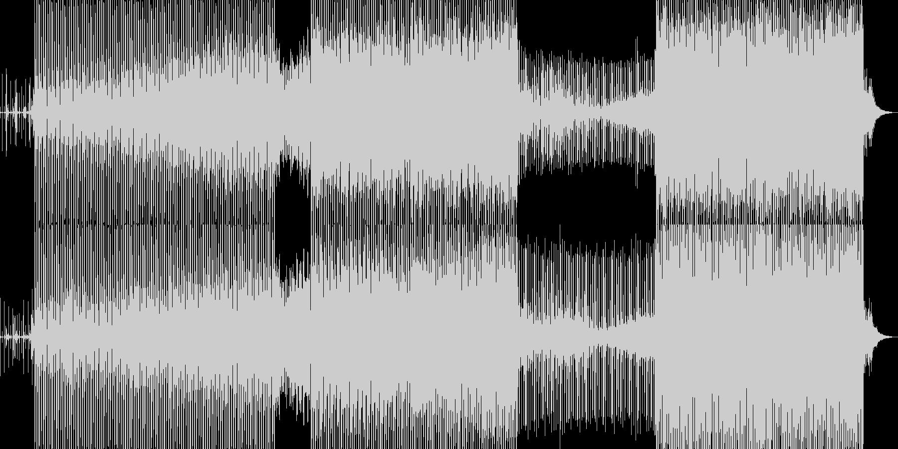 しっかりしたビートの科学的サウンドの未再生の波形