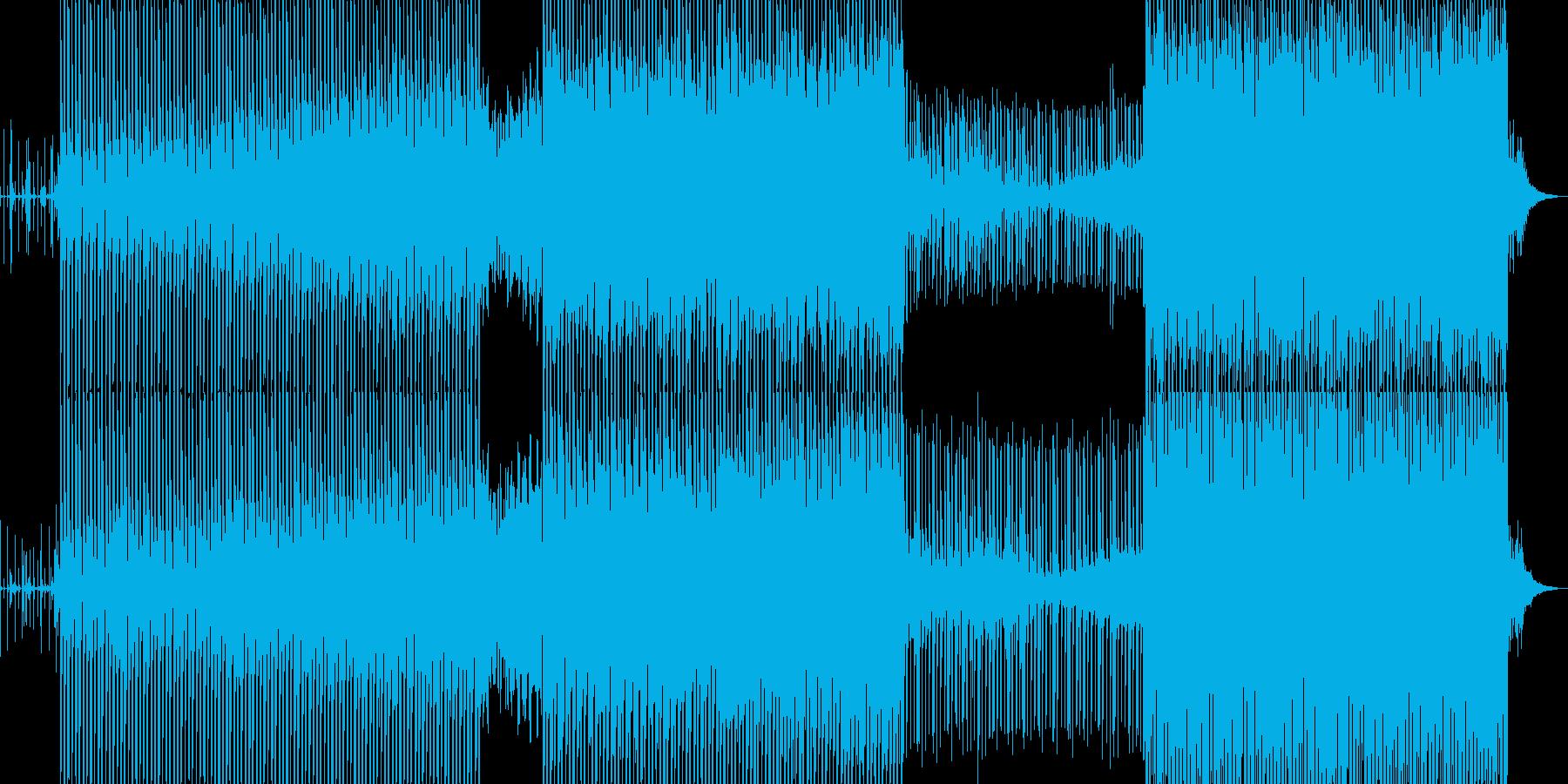 しっかりしたビートの科学的サウンドの再生済みの波形