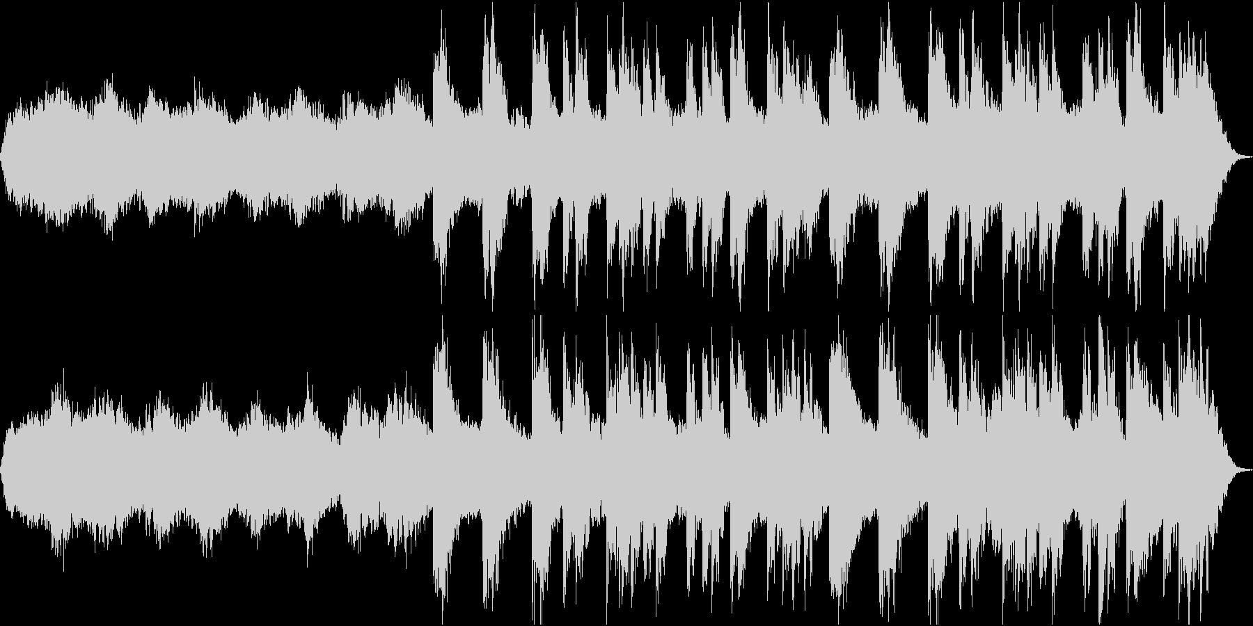 幻想的なピアノとシンセのBGMの未再生の波形