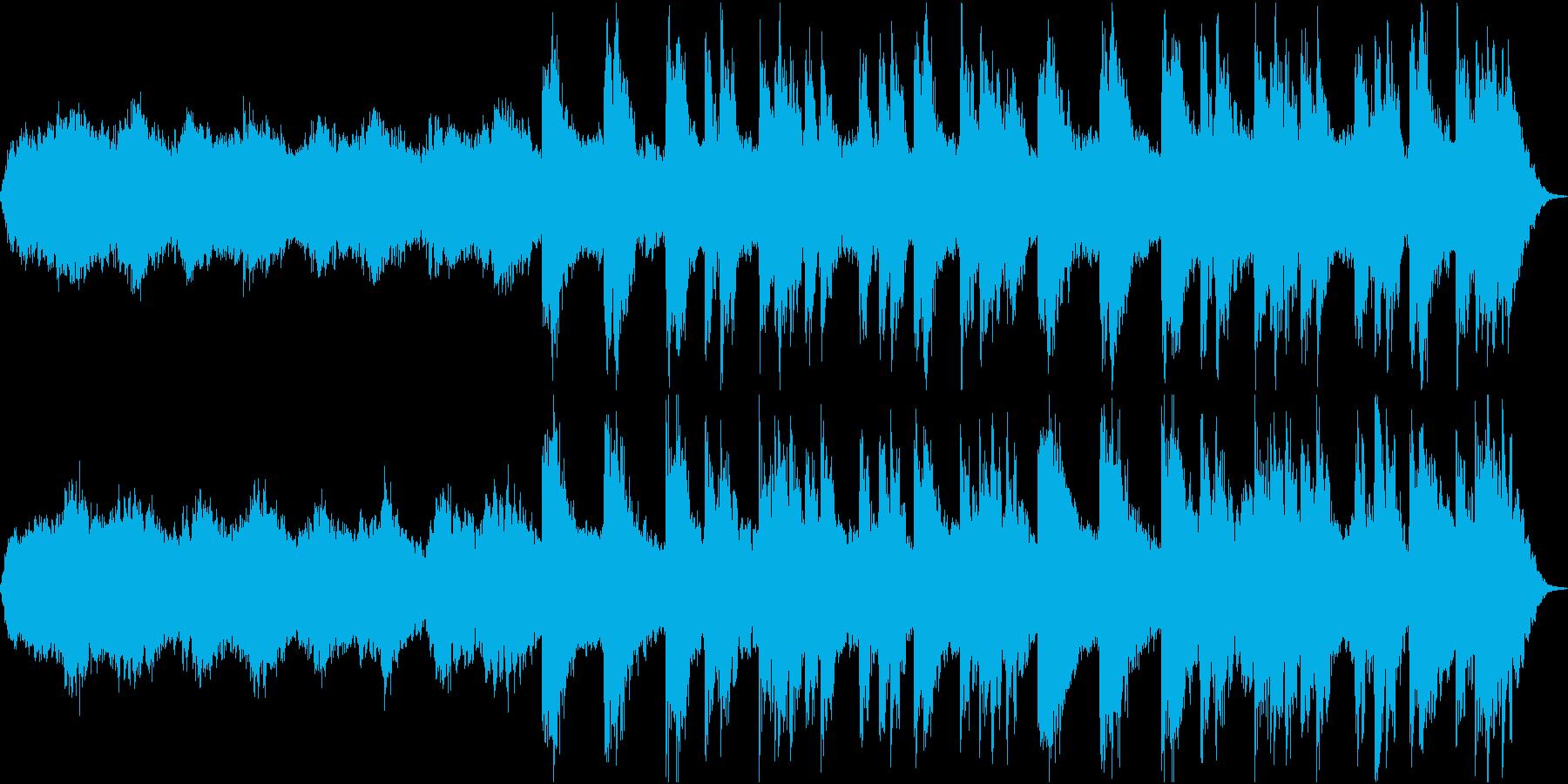 幻想的なピアノとシンセのBGMの再生済みの波形