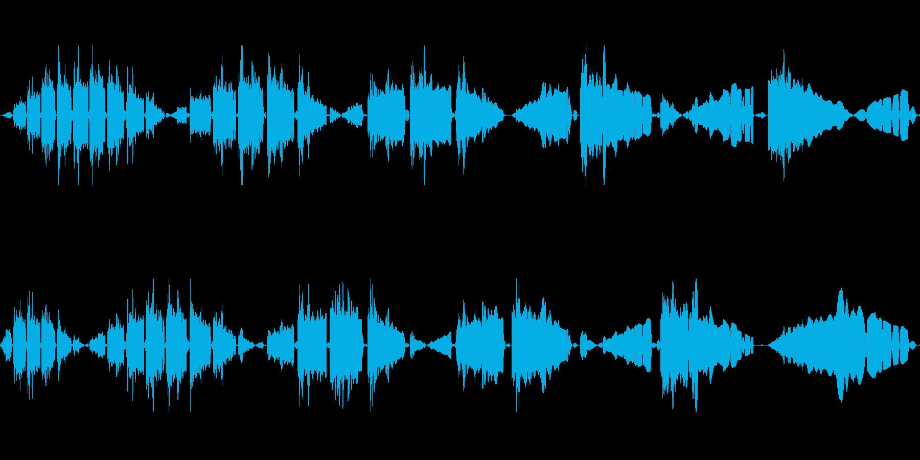電動スワイプの再生済みの波形
