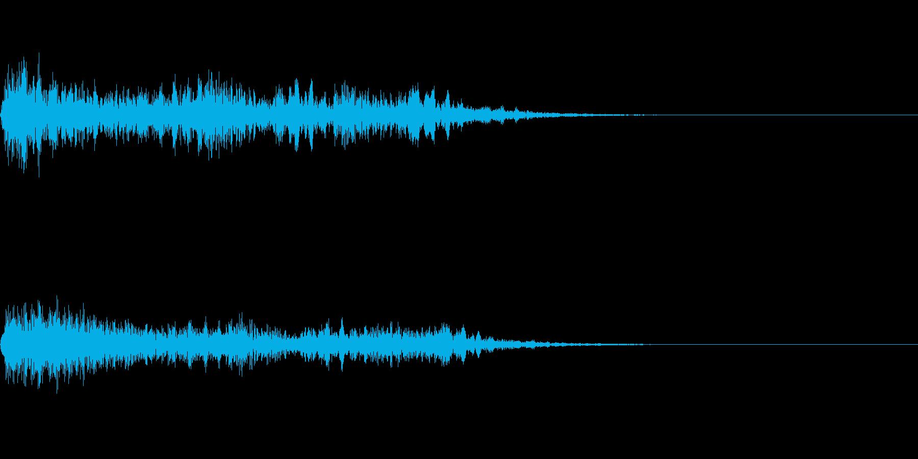 ホラー系導入音_その12の再生済みの波形