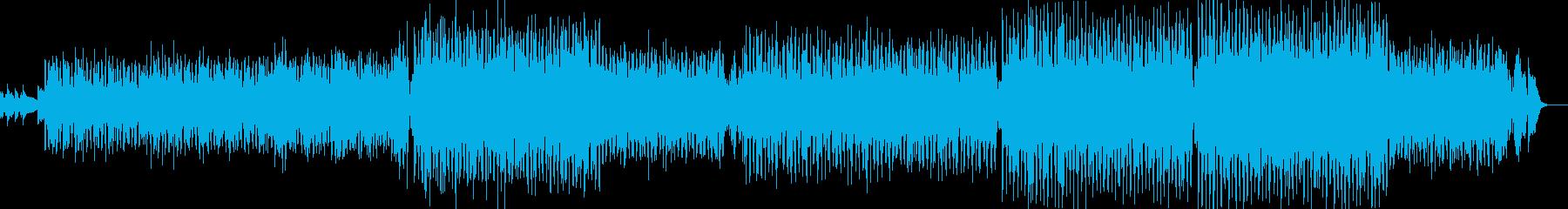 気持ちが湧き立つボサノバ寄りのサンバの再生済みの波形