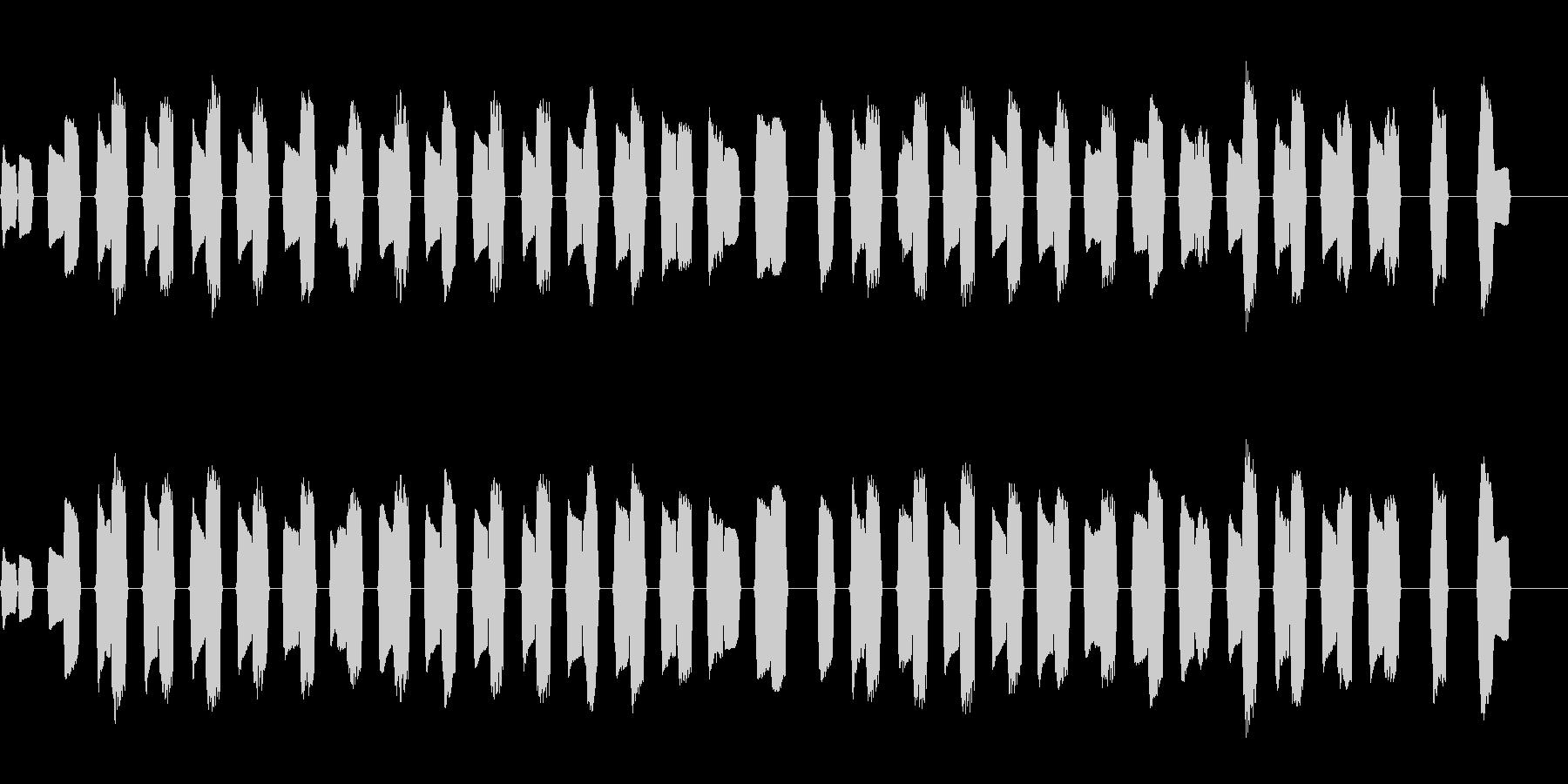 ピタゴラスイッチ風のほっこりしたBGMの未再生の波形