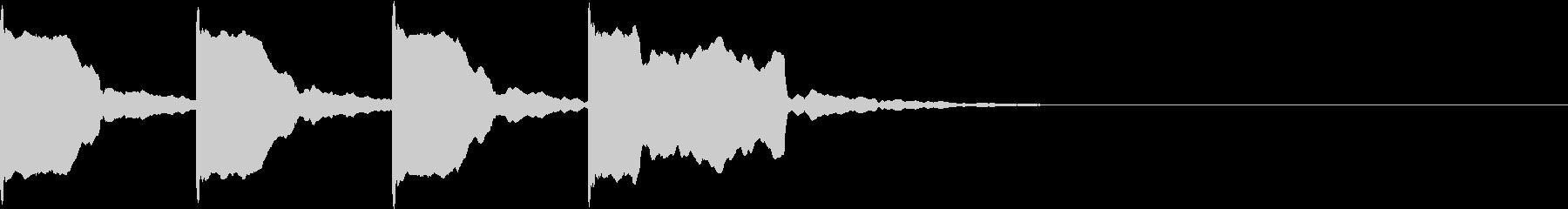 レーススタート合図7 カウントダウンの未再生の波形