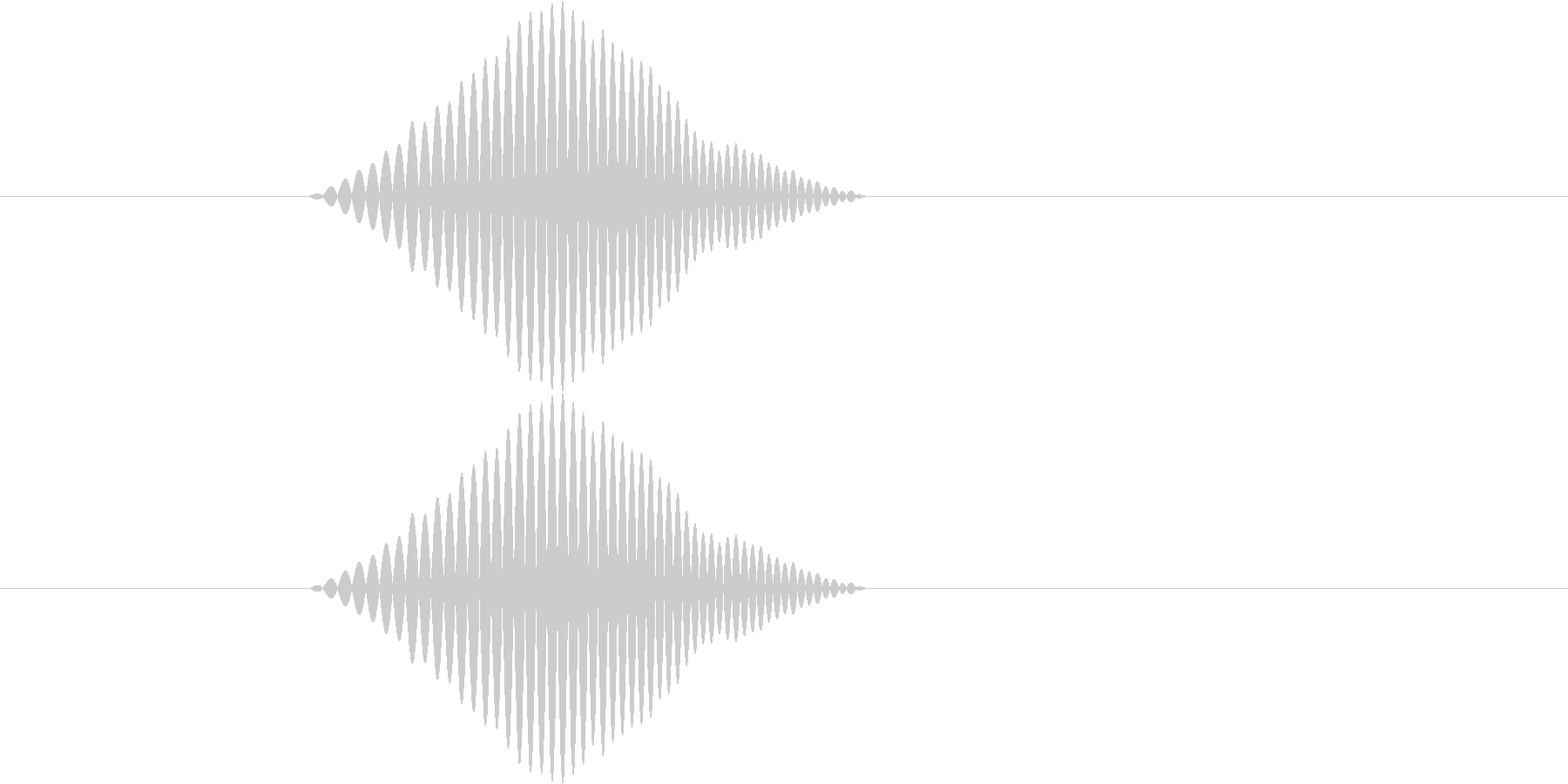 シンプルなボタン音1(ポワッ)の未再生の波形