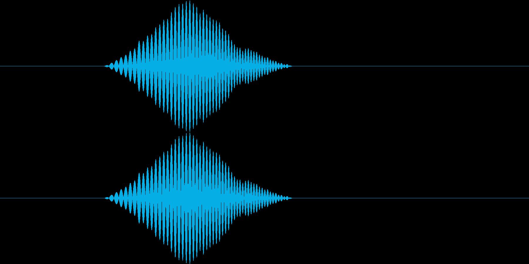 シンプルなボタン音1(ポワッ)の再生済みの波形