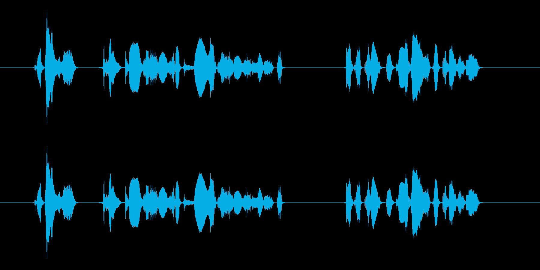 ただ今、緊急地震速報を受信しましたの再生済みの波形