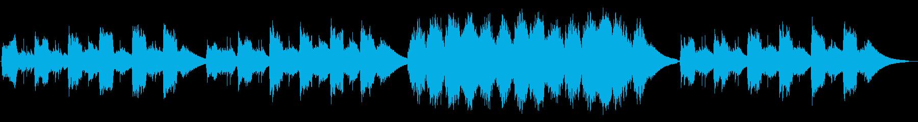 夜が明けるようなピアノヒーリング曲の再生済みの波形