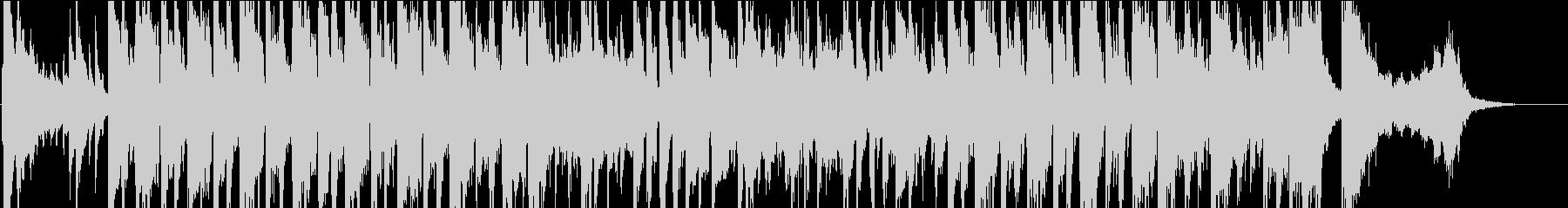 オールドアメリカン風の軽快なBGMの未再生の波形