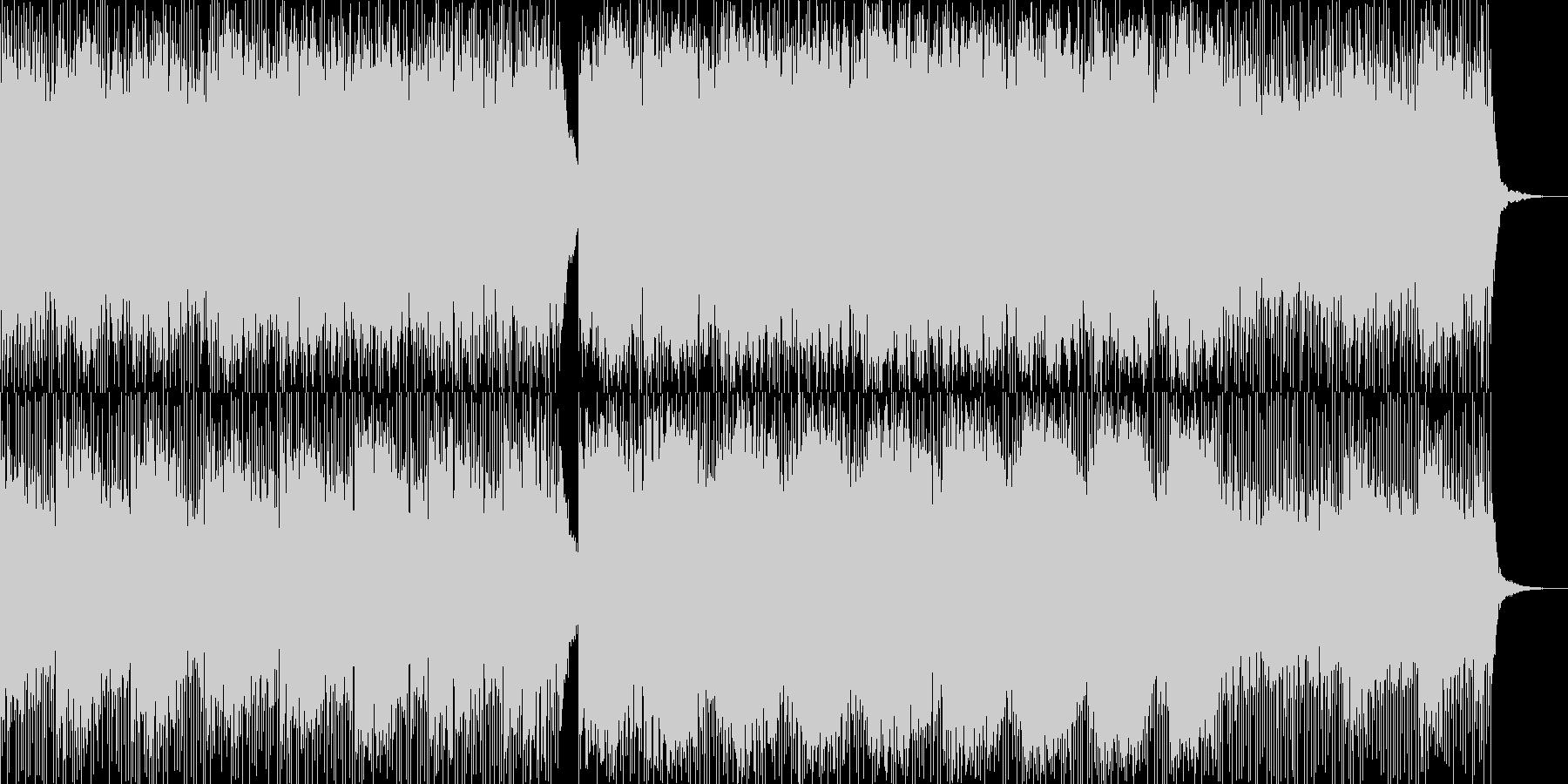 こだまするピアノの未再生の波形