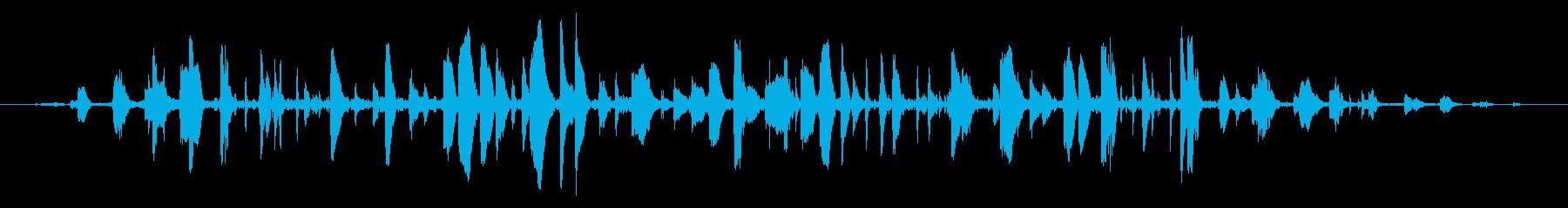 ドライアイス:小さな急速な泡立ちの再生済みの波形
