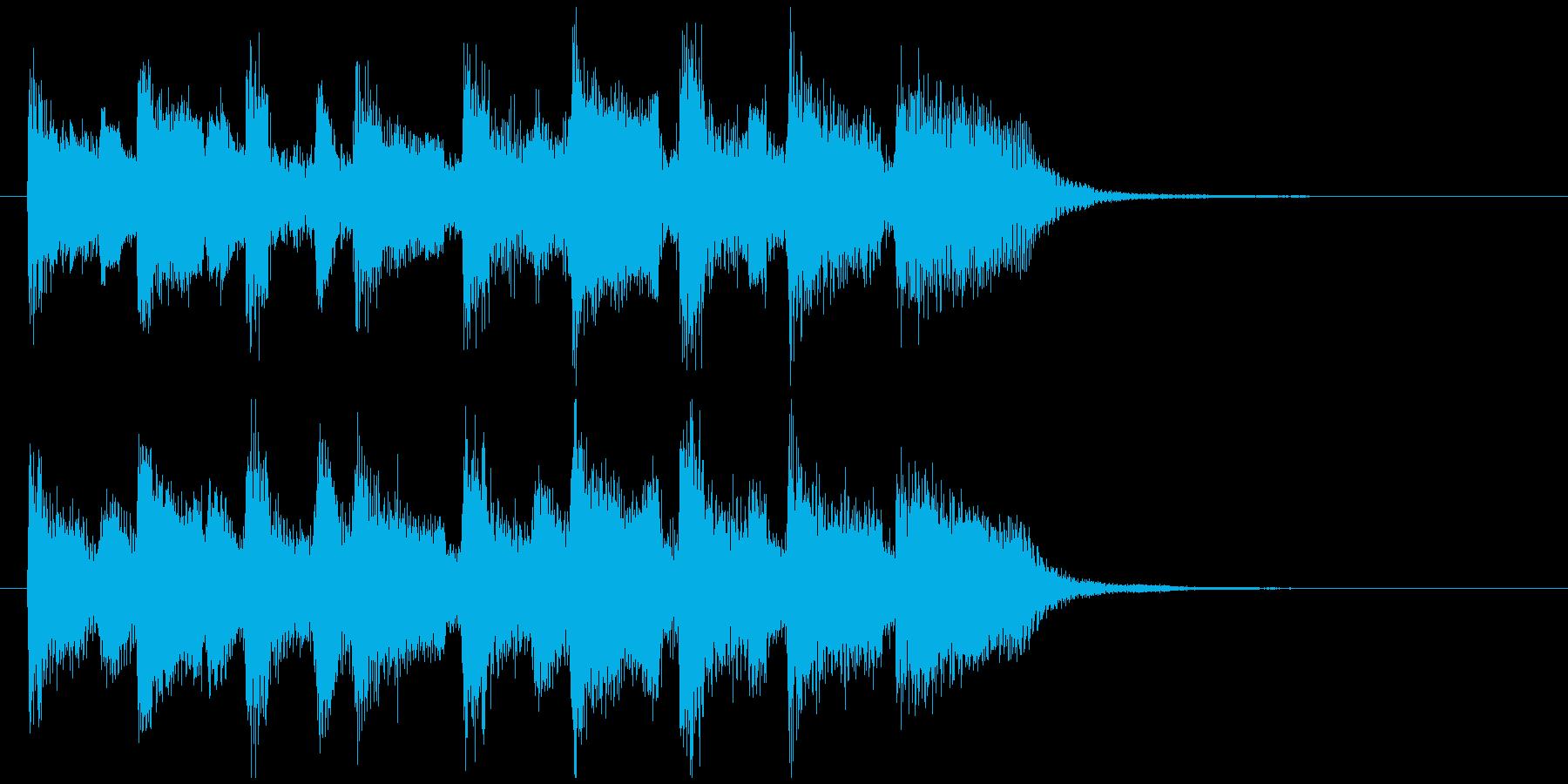 楽しいスキップ、弾むリコーダーのジングルの再生済みの波形