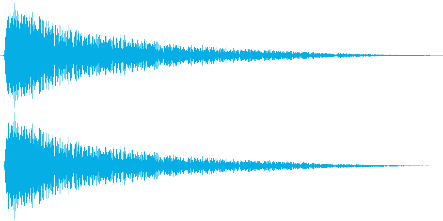 こんがらがる 失敗する等(ビヨヨヨン…)の再生済みの波形