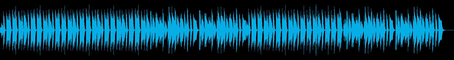 シンプルで温かみのある明るいピアノ曲の再生済みの波形