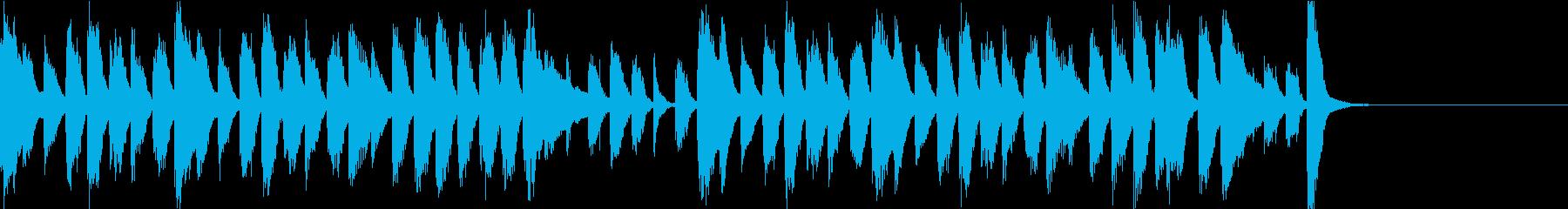 のんびりほのぼのとした和風BGMの再生済みの波形
