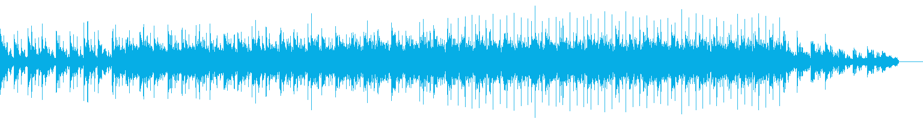 琴の音色とチルアウトな浮遊感テクノBGMの再生済みの波形