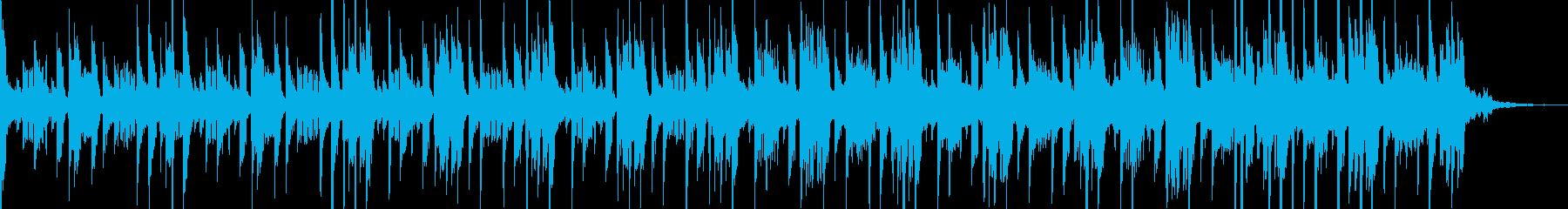 淡々とした緊張感のテクノ30秒の再生済みの波形