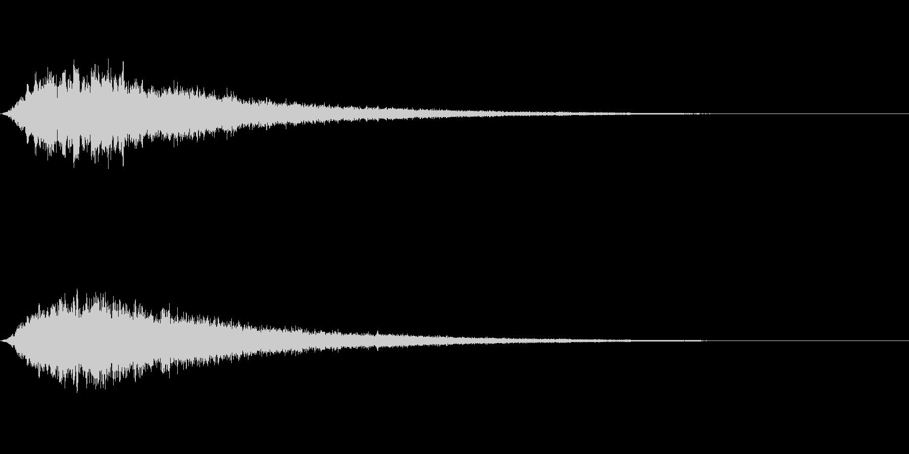 キラキラ~ 体力を回復させるヒール魔法の未再生の波形