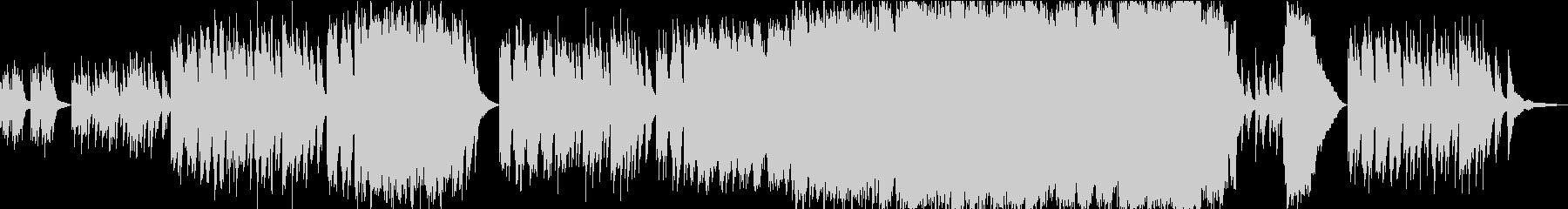 アクアリウム・熱帯魚 透明感あるピアノ曲の未再生の波形