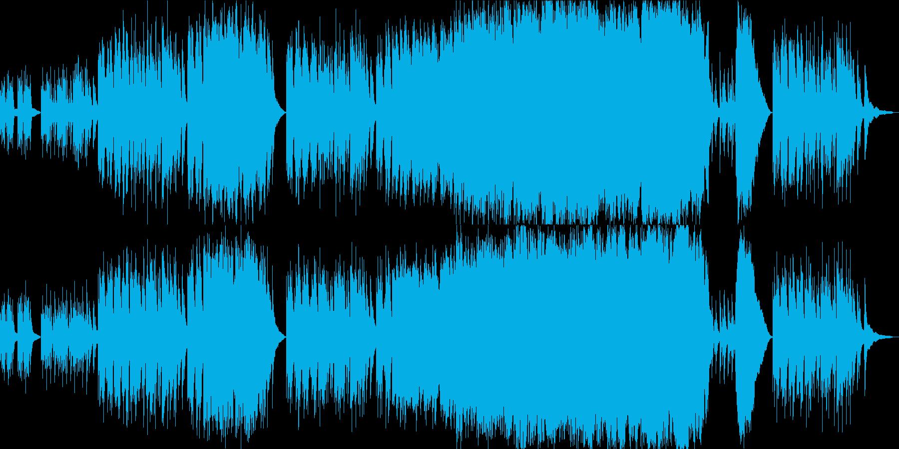 アクアリウム・熱帯魚 透明感あるピアノ曲の再生済みの波形