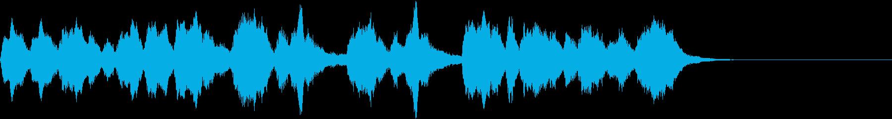 冬向けとびきり明るいオーケストラジングルの再生済みの波形